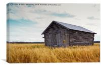 Barn House In The Middle Of The Fields, Canvas Print