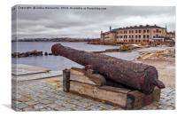 Old Cannon At The Port, Canvas Print