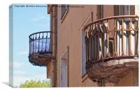 Two Old Balconies, Canvas Print