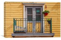 Greenhouse On A Balcony, Canvas Print