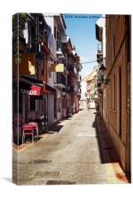 Tango On The Street, Canvas Print