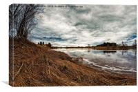 Springtime Clouds Over The River, Canvas Print