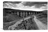 Arten Gill Viaduct, Canvas Print