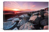 Cleveleys Beach, Canvas Print