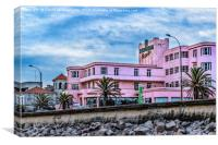 Old Style Waterfront Hotel, Montevideo, Uruguay, Canvas Print
