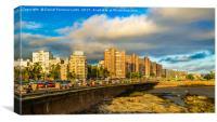 Coastal Urban Scene, Montevideo, Uruguay, Canvas Print