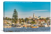 Punta del Este Port, Uruguay, Canvas Print
