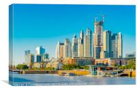 Modern Buildings, Puerto Madero, Buenos Aires, Canvas Print