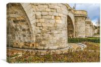 Segovia Bridge at Madrid, Spain, Canvas Print