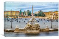 Piazza del Popolo, Rome, Italy, Canvas Print