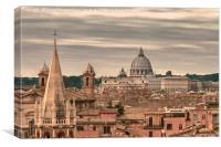 Rome Aerial View From Pincio Viewpoint, Canvas Print
