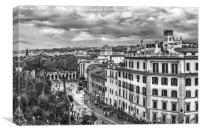 Rome Aerial Cityscape View From Campidoglio, Canvas Print