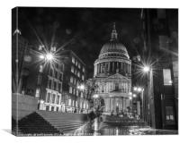 Stars at St Paul's, Canvas Print