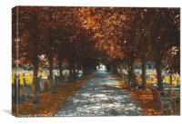 Autumn Treeline in UK, Canvas Print