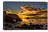 Autumn Sunrise over Rocky Beach, Canvas Print