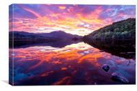 Loch Achray Sunset, Canvas Print