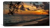 Sunset on Paradise, Canvas Print