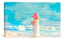 Playing in Barbados, Canvas Print