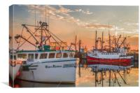 Painting of Yarmouth Harbour, Canvas Print