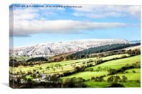 Pendle Hill in January 2016, Canvas Print