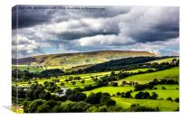 Pendle Hill in August, Canvas Print