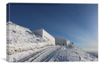 Frozen Summit of Snowdon, Canvas Print