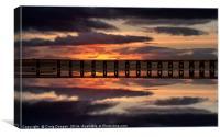 Tay Rail Bridge Dundee, Canvas Print
