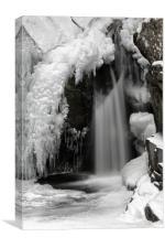Frozen Falls of Bruar, Canvas Print