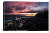 Kinnoull Hill Sunset, Canvas Print