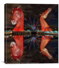 Firework Kelpies, Canvas Print