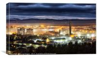 Dundee City Fog, Canvas Print