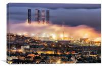 Dundee Port Fog, Canvas Print