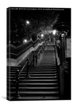 Deserted Staircase, Canvas Print
