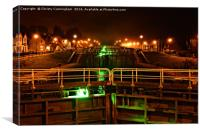 Fort Augustus By Night , Canvas Print