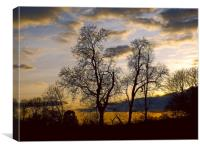 sunset in the wye valley, Canvas Print