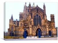 hereford cathedral entrance, Canvas Print