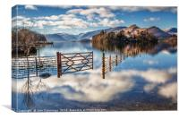 Floating on Clouds, Derwent Water, Canvas Print