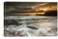 Sunset at El Golfo, Lanzarote, Canvas Print