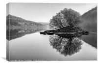 Lake Vyrnwy Reflections, Canvas Print