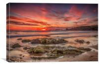 Sunset at Crooklets Beach, Canvas Print