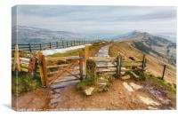 The Gate on the Great Ridge at Mam Tor, Canvas Print