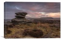 Sunrise at Over Owler Tor, Canvas Print