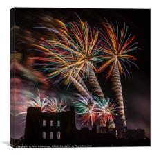 Fireworks at Kenilworth Castle, Canvas Print