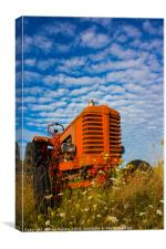 Little red Tractor, Canvas Print
