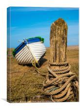 Boat at Porlock Weir., Canvas Print