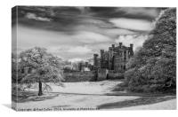 Lowther Castle Monochrome 6, Canvas Print