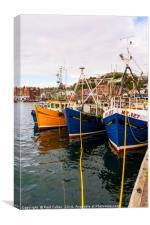 Oban Harbour, Oban, Argyle, Scotland. 28th August , Canvas Print