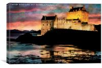 Eilean Donan Castle Watercolour Effect., Canvas Print