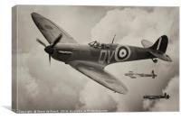 Spitfire Escort, Canvas Print