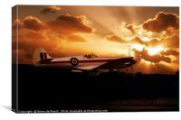 Spitfire Dawn, Canvas Print